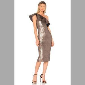 Rachel Zoe Tabitha Ruffled One-Shoulder Midi Dress